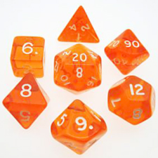 Spirit Games (Est. 1984) - Supplying role playing games (RPG), wargames rules, miniatures and scenery, new and traditional board and card games for the last 20 years sells Gem Dice Set: Orange