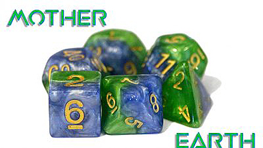 Spirit Games (Est. 1984) - Supplying role playing games (RPG), wargames rules, miniatures and scenery, new and traditional board and card games for the last 20 years sells Halfsies Dice Set: Mother Earth