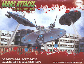 Spirit Games (Est. 1984) - Supplying role playing games (RPG), wargames rules, miniatures and scenery, new and traditional board and card games for the last 20 years sells Mars Attacks: The Miniatures Game - Martian Attack Saucer Squadron