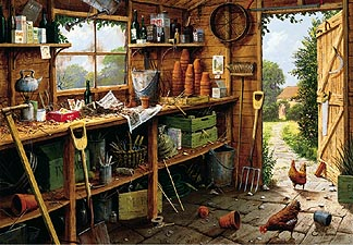 Spirit Games (Est. 1984) - Supplying role playing games (RPG), wargames rules, miniatures and scenery, new and traditional board and card games for the last 20 years sells Jigsaw: The Garden Shed 500pc