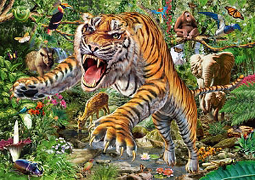 Spirit Games (Est. 1984) - Supplying role playing games (RPG), wargames rules, miniatures and scenery, new and traditional board and card games for the last 20 years sells Jigsaw: Tiger Attack 500pc