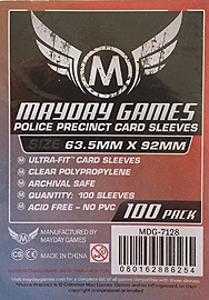 Spirit Games (Est. 1984) - Supplying role playing games (RPG), wargames rules, miniatures and scenery, new and traditional board and card games for the last 20 years sells Police Precinct Card Sleeves (100 per pack) MDG-7128