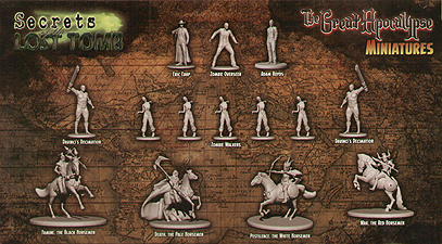 Spirit Games (Est. 1984) - Supplying role playing games (RPG), wargames rules, miniatures and scenery, new and traditional board and card games for the last 20 years sells Secrets of the Lost Tomb: The Great Apocalypse Miniatures