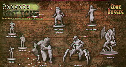 Spirit Games (Est. 1984) - Supplying role playing games (RPG), wargames rules, miniatures and scenery, new and traditional board and card games for the last 20 years sells Secrets of the Lost Tomb: Core Bosses