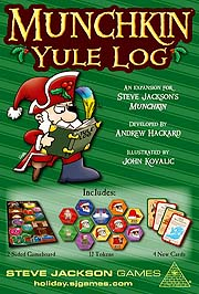Spirit Games (Est. 1984) - Supplying role playing games (RPG), wargames rules, miniatures and scenery, new and traditional board and card games for the last 20 years sells Munchkin Yule Log
