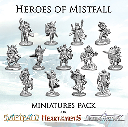 Spirit Games (Est. 1984) - Supplying role playing games (RPG), wargames rules, miniatures and scenery, new and traditional board and card games for the last 20 years sells Mistfall: Heart of Mists - Heroes of Mistfall Miniatures Pack