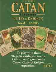 Spirit Games (Est. 1984) - Supplying role playing games (RPG), wargames rules, miniatures and scenery, new and traditional board and card games for the last 20 years sells Catan Expansion Cities and Knights Game Cards