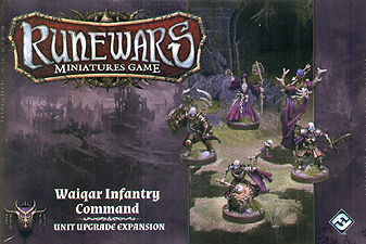 Spirit Games (Est. 1984) - Supplying role playing games (RPG), wargames rules, miniatures and scenery, new and traditional board and card games for the last 20 years sells Runewars Miniatures Game: Waiqar Infantry Command Unit Upgrade Expansion