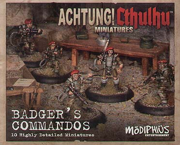 Spirit Games (Est. 1984) - Supplying role playing games (RPG), wargames rules, miniatures and scenery, new and traditional board and card games for the last 20 years sells Achtung! Cthulhu Skirmish: Badger