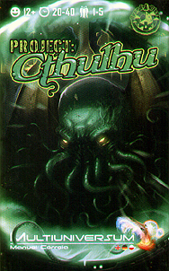 Spirit Games (Est. 1984) - Supplying role playing games (RPG), wargames rules, miniatures and scenery, new and traditional board and card games for the last 20 years sells Multiuniversum Project: Cthulhu (includes 4 kickstarter cards)