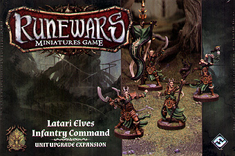 Spirit Games (Est. 1984) - Supplying role playing games (RPG), wargames rules, miniatures and scenery, new and traditional board and card games for the last 20 years sells Runewars Miniatures Game: Latari Elves Infantry Command Unit Upgrade Expansion