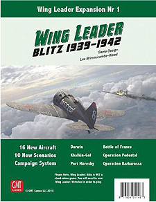 Spirit Games (Est. 1984) - Supplying role playing games (RPG), wargames rules, miniatures and scenery, new and traditional board and card games for the last 20 years sells Wing Leader: Expansion Nr1 Blitz 1939-1942