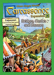 Spirit Games (Est. 1984) - Supplying role playing games (RPG), wargames rules, miniatures and scenery, new and traditional board and card games for the last 20 years sells Carcassonne Expansion 8: Bridges, Castles and Bazaars