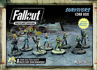 Spirit Games (Est. 1984) - Supplying role playing games (RPG), wargames rules, miniatures and scenery, new and traditional board and card games for the last 20 years sells Fallout: Wasteland Warfare - Survivors Core Box