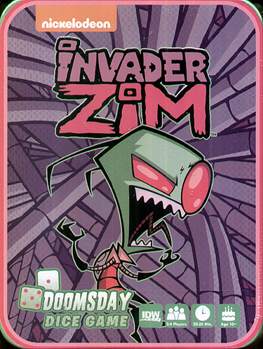 Spirit Games (Est. 1984) - Supplying role playing games (RPG), wargames rules, miniatures and scenery, new and traditional board and card games for the last 20 years sells Invader Zim: Doomsday Dice Game