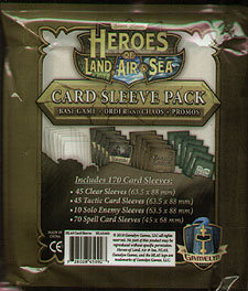 Spirit Games (Est. 1984) - Supplying role playing games (RPG), wargames rules, miniatures and scenery, new and traditional board and card games for the last 20 years sells Heroes of Land, Air and Sea: Card Sleeve Pack