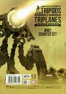 Spirit Games (Est. 1984) - Supplying role playing games (RPG), wargames rules, miniatures and scenery, new and traditional board and card games for the last 20 years sells Wings of Glory Tripods and Triplanes: WW2 Counter Set