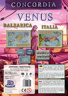 Spirit Games (Est. 1984) - Supplying role playing games (RPG), wargames rules, miniatures and scenery, new and traditional board and card games for the last 20 years sells Concordia: Venus Balearica/Italia