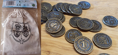 Spirit Games (Est. 1984) - Supplying role playing games (RPG), wargames rules, miniatures and scenery, new and traditional board and card games for the last 20 years sells Glen More II: Chronicles 40 Metal Coins