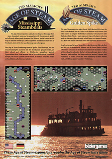 Spirit Games (Est. 1984) - Supplying role playing games (RPG), wargames rules, miniatures and scenery, new and traditional board and card games for the last 20 years sells Age of Steam Expansion: Mississippi Steamboats/Golden Spike