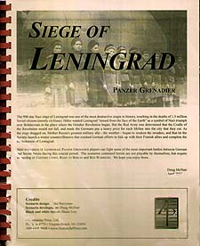 Spirit Games (Est. 1984) - Supplying role playing games (RPG), wargames rules, miniatures and scenery, new and traditional board and card games for the last 20 years sells Panzer Grenadier: Siege of Leningrad