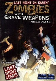 Spirit Games (Est. 1984) - Supplying role playing games (RPG), wargames rules, miniatures and scenery, new and traditional board and card games for the last 20 years sells Last Night on Earth: Zombies with Grave Weapons