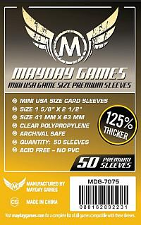 Spirit Games (Est. 1984) - Supplying role playing games (RPG), wargames rules, miniatures and scenery, new and traditional board and card games for the last 20 years sells Mini USA Game Sleeves Premium (50 per pack) MDG-7075