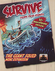 Spirit Games (Est. 1984) - Supplying role playing games (RPG), wargames rules, miniatures and scenery, new and traditional board and card games for the last 20 years sells Survive: Escape from Atlantis!: The Giant Squid Mini Expansion
