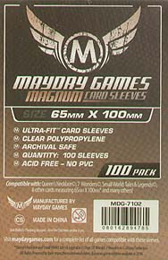 Spirit Games (Est. 1984) - Supplying role playing games (RPG), wargames rules, miniatures and scenery, new and traditional board and card games for the last 20 years sells Large Card Sleeves #1: 65 x100mm MDG-7102