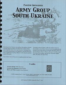 Spirit Games (Est. 1984) - Supplying role playing games (RPG), wargames rules, miniatures and scenery, new and traditional board and card games for the last 20 years sells Panzer Grenadier: Army Group South Ukraine