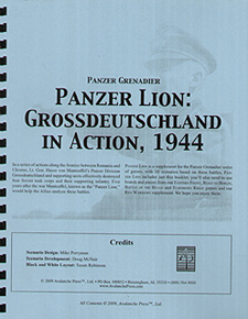 Spirit Games (Est. 1984) - Supplying role playing games (RPG), wargames rules, miniatures and scenery, new and traditional board and card games for the last 20 years sells Panzer Grenadier: Panzer Lion Grossdeutrschland in Action, 1944