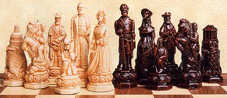 Spirit Games (Est. 1984) - Supplying role playing games (RPG), wargames rules, miniatures and scenery, new and traditional board and card games for the last 20 years sells ACW Figurine Chess pieces. 125mm King