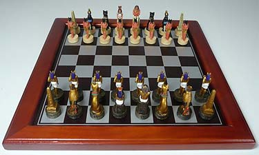 Spirit Games (Est. 1984) - Supplying role playing games (RPG), wargames rules, miniatures and scenery, new and traditional board and card games for the last 20 years sells Egyptian Figurine Chess Set, 50mm King