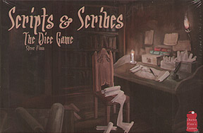 Spirit Games (Est. 1984) - Supplying role playing games (RPG), wargames rules, miniatures and scenery, new and traditional board and card games for the last 20 years sells Scripts and Scribes: The Dice Game