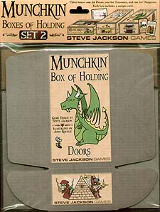 Spirit Games (Est. 1984) - Supplying role playing games (RPG), wargames rules, miniatures and scenery, new and traditional board and card games for the last 20 years sells Munchkin Boxes of Holding Set 2
