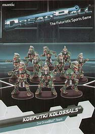Spirit Games (Est. 1984) - Supplying role playing games (RPG), wargames rules, miniatures and scenery, new and traditional board and card games for the last 20 years sells DreadBall: Koeptuki Kolossals Zee Team