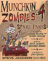Spirit Games (Est. 1984) - Supplying role playing games (RPG), wargames rules, miniatures and scenery, new and traditional board and card games for the last 20 years sells Munchkin Zombies 4 Spare Parts