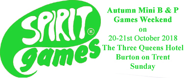 Spirit Games (Est. 1984) - Supplying role playing games (RPG), wargames rules, miniatures and scenery, new and traditional board and card games for the last 20 years sells Autumn Beer and Pretzels Ticket: Sunday 21st October 2018