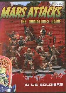 Spirit Games (Est. 1984) - Supplying role playing games (RPG), wargames rules, miniatures and scenery, new and traditional board and card games for the last 20 years sells Mars Attacks: The Miniatures Game - 10 US Soldiers