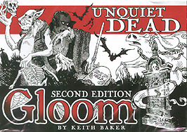 Spirit Games (Est. 1984) - Supplying role playing games (RPG), wargames rules, miniatures and scenery, new and traditional board and card games for the last 20 years sells Gloom: Unquiet Dead Second Edition