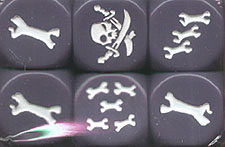 Spirit Games (Est. 1984) - Supplying role playing games (RPG), wargames rules, miniatures and scenery, new and traditional board and card games for the last 20 years sells Rum and Bones: Bone Devils Dice