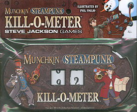 Spirit Games (Est. 1984) - Supplying role playing games (RPG), wargames rules, miniatures and scenery, new and traditional board and card games for the last 20 years sells Munchkin Steampunk Kill-O-Meter