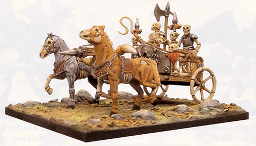Spirit Games (Est. 1984) - Supplying role playing games (RPG), wargames rules, miniatures and scenery, new and traditional board and card games for the last 20 years sells [MG08] Skeleton Chariot (2 + accessories)