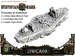 Spirit Games (Est. 1984) - Supplying role playing games (RPG), wargames rules, miniatures and scenery, new and traditional board and card games for the last 20 years sells [DWCA08] Covenant of Antarctica Icarus Class Medium Flyer (2) by