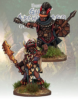 Spirit Games (Est. 1984) - Supplying role playing games (RPG), wargames rules, miniatures and scenery, new and traditional board and card games for the last 20 years sells [FGA324] Ghost Archipelago Totem Warrior and Vanguard (2)