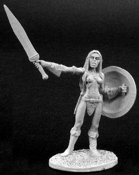 Spirit Games (Est. 1984) - Supplying role playing games (RPG), wargames rules, miniatures and scenery, new and traditional board and card games for the last 20 years sells [02773] Tana, Female Barbarian