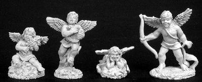 Spirit Games (Est. 1984) - Supplying role playing games (RPG), wargames rules, miniatures and scenery, new and traditional board and card games for the last 20 years sells [02787] Cupid (1) and Cherubs (3)