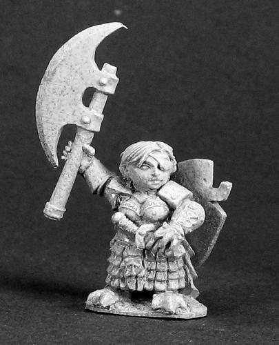 Spirit Games (Est. 1984) - Supplying role playing games (RPG), wargames rules, miniatures and scenery, new and traditional board and card games for the last 20 years sells [03293] Ursula Silverbraid, Female Dwarf Warrior