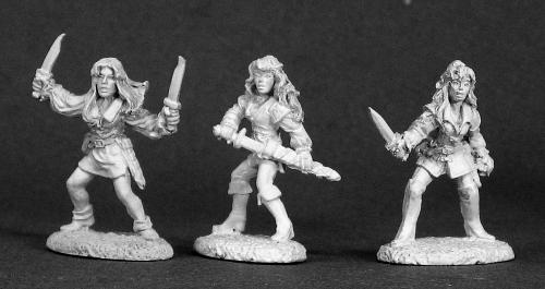 Spirit Games (Est. 1984) - Supplying role playing games (RPG), wargames rules, miniatures and scenery, new and traditional board and card games for the last 20 years sells [03297] DHL Classics: Female Rogues (3)
