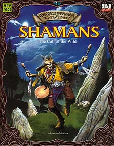Spirit Games (Est. 1984) - Supplying role playing games (RPG), wargames rules, miniatures and scenery, new and traditional board and card games for the last 20 years sells Encyclopedia Divine: Shamans - The Call of the Wild